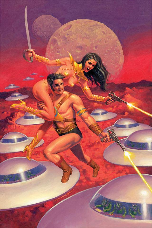 Warlord of Mars Attacks #5 (40 Copy Hildebrandt Virgin Cover)