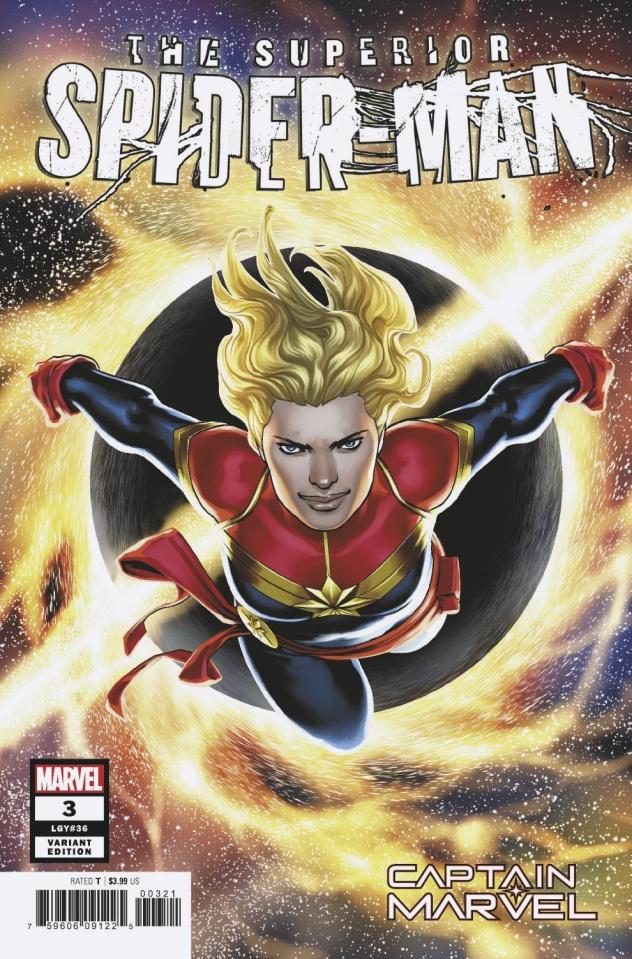 The Superior Spider-Man #3 (Saiz Captain Marvel Cover)