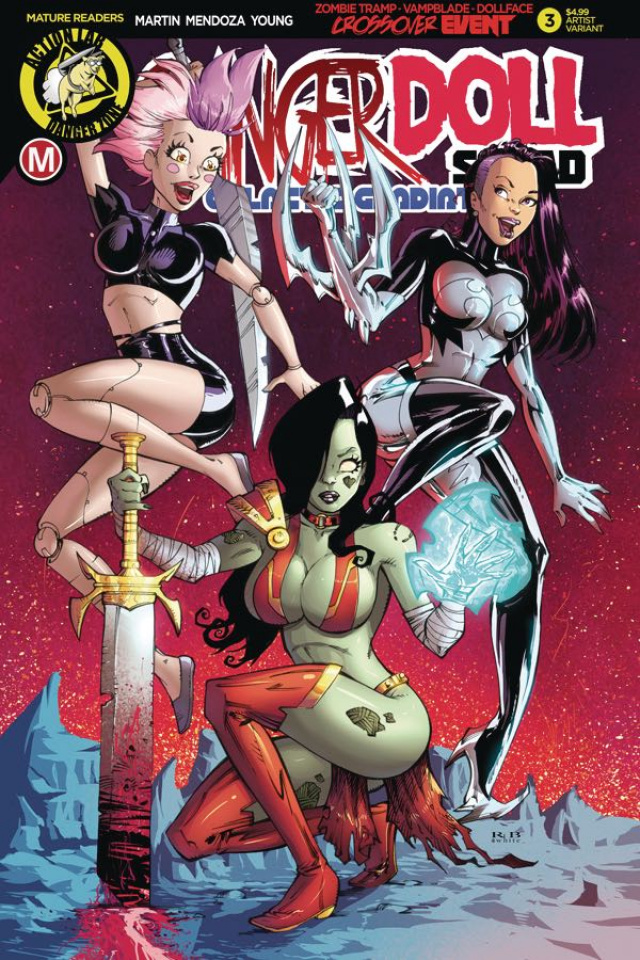 Danger Doll Squad: Galactic Gladiators #3 (White Cover)