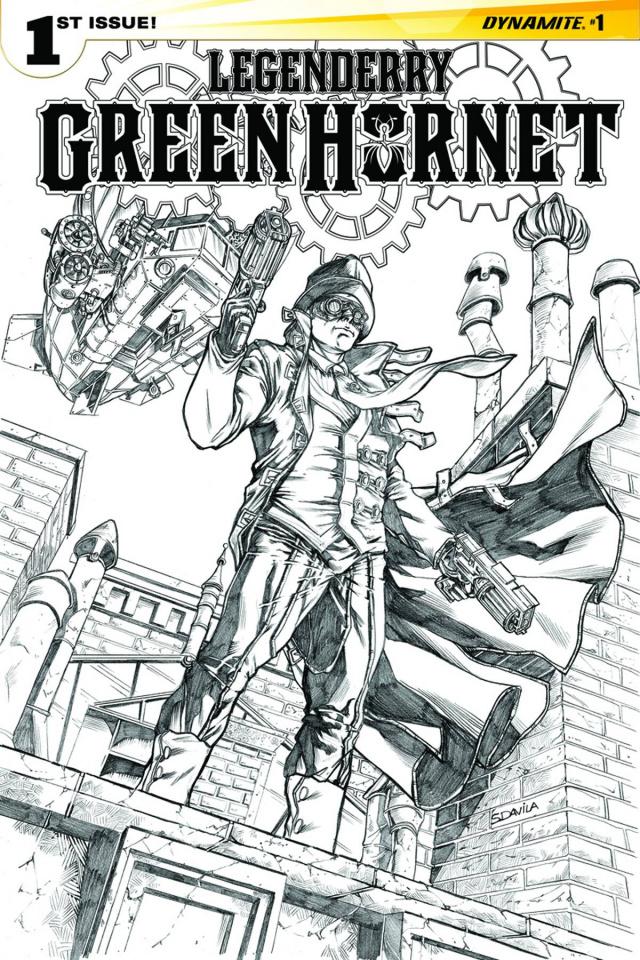 Legenderry: Green Hornet #1 (25 Copy Davila B&W Cover)