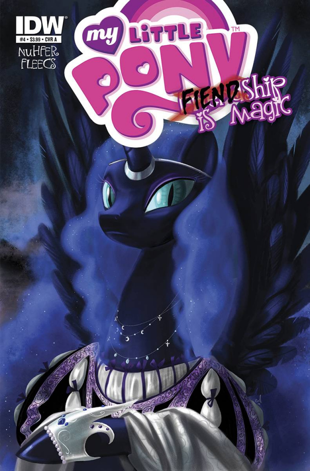 My Little Pony: Fiendship Is Magic #4 (Nightmare Moon Cover)