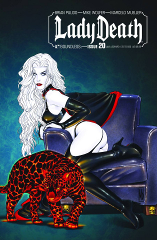 Lady Death #20 (Lava Leopard Cover)