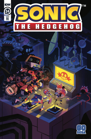 Sonic the Hedgehog #34 (10 Copy Fourdraine Cover)