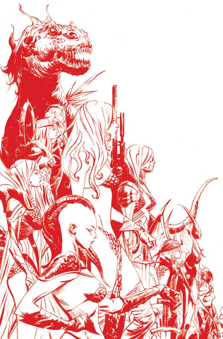 Sonjaversal #1 (Lee Blood Red Line Art Virgin Cover)