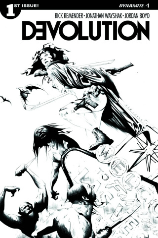 Devolution #1 (10 Copy Lee B&W Cover)