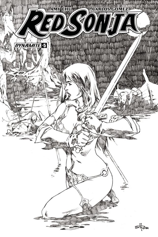 Red Sonja #5 (30 Copy Rubi B&W Cover)