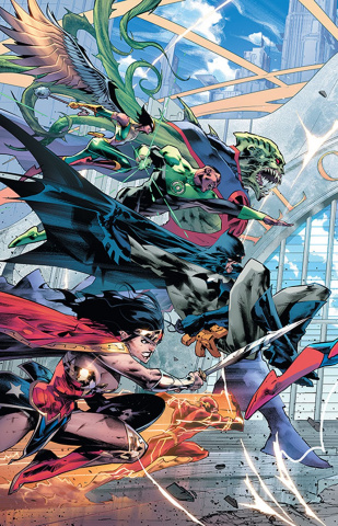 Justice League #20 (Left Variant Cover)