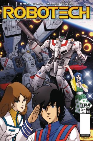 Robotech #1 (Waltrip Bros Retro Cover)