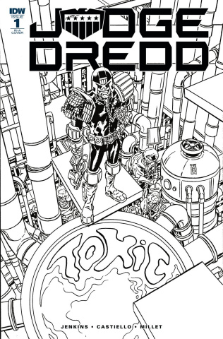 Judge Dredd: Toxic #1 (10 Copy Buckingham Cover)
