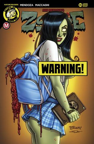 Zombie Tramp #35 (McKay Schoolgirl Risque Cover)