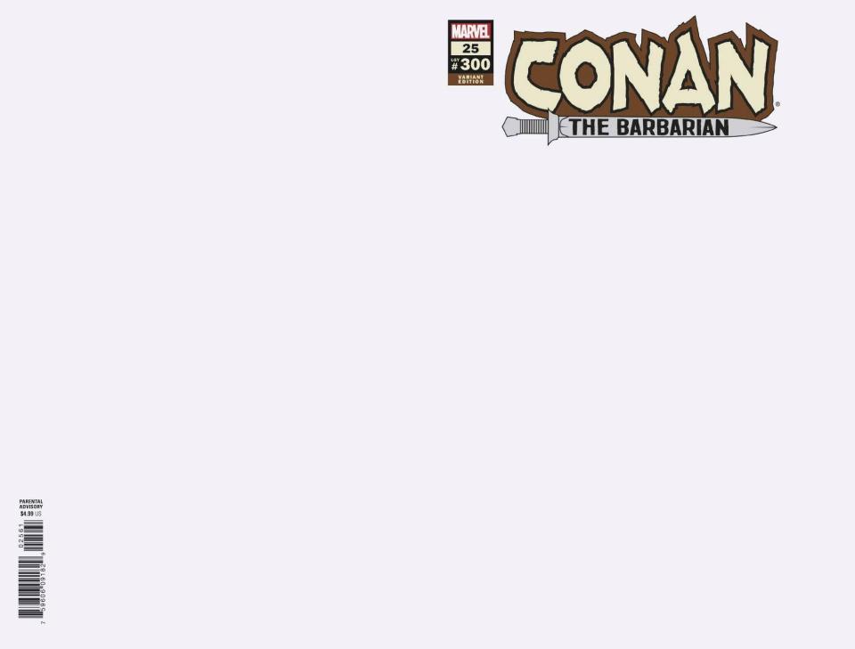 Conan the Barbarian #25 (Blank Cover)