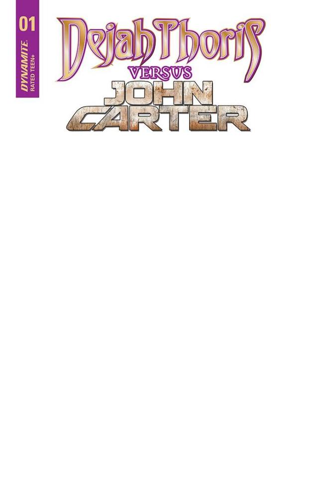 Dejah Thoris vs. John Carter of Mars #1 (Blank Authentix Cover)