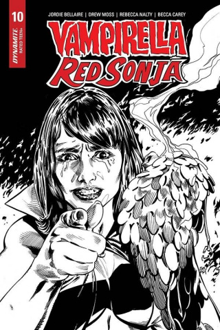 Vampirella / Red Sonja #10 (15 Copy Mooney B&W Homage Cover)
