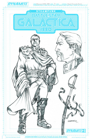 Steampunk Battlestar Galactica: 1880 #3 (10 Copy Adama Art Cover)