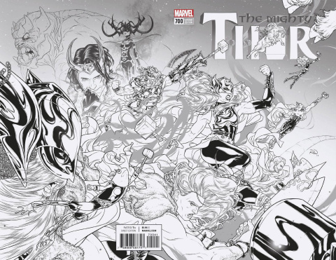 The Mighty Thor #700 (Dauterman B&W Cover)