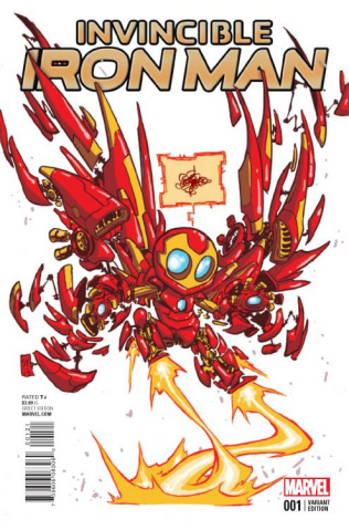 Invincible Iron Man #1 (Young Cover)