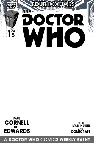 Doctor Who: Four Doctors #1 (Blank Sketch Cover)