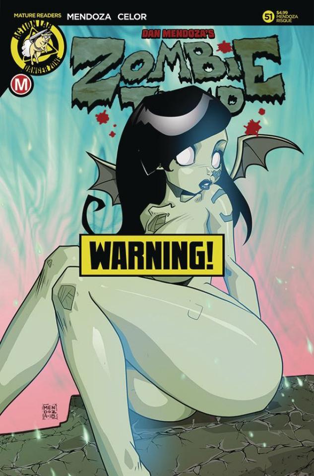 Zombie Tramp #51 (Mendoza Risque Cover)