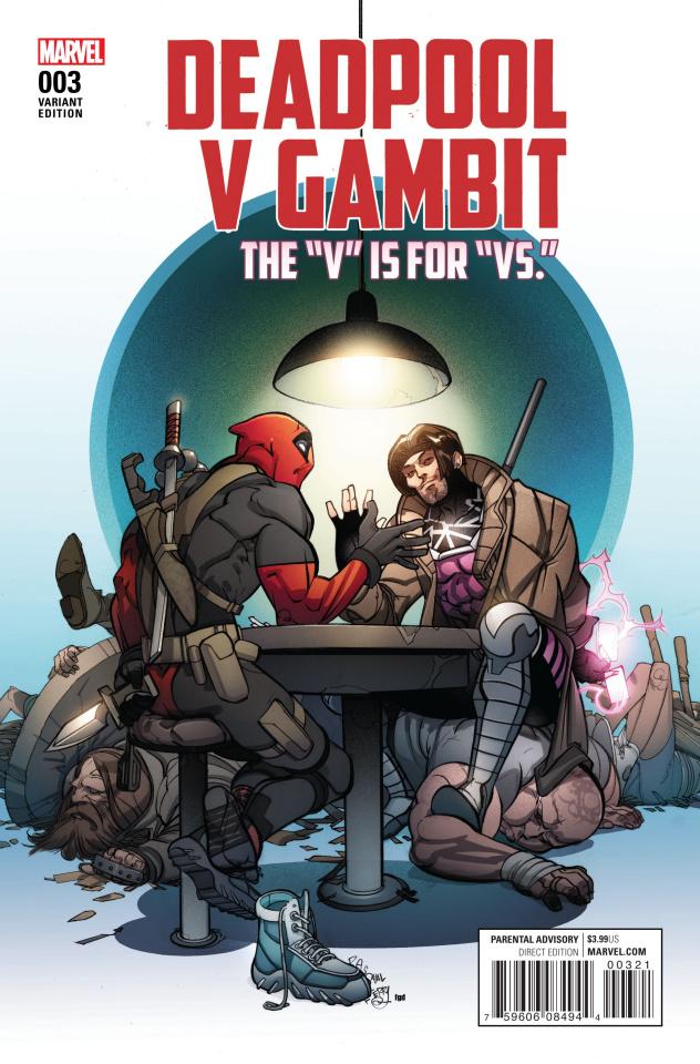 Deadpool vs. Gambit #3 (Ferry Cover)