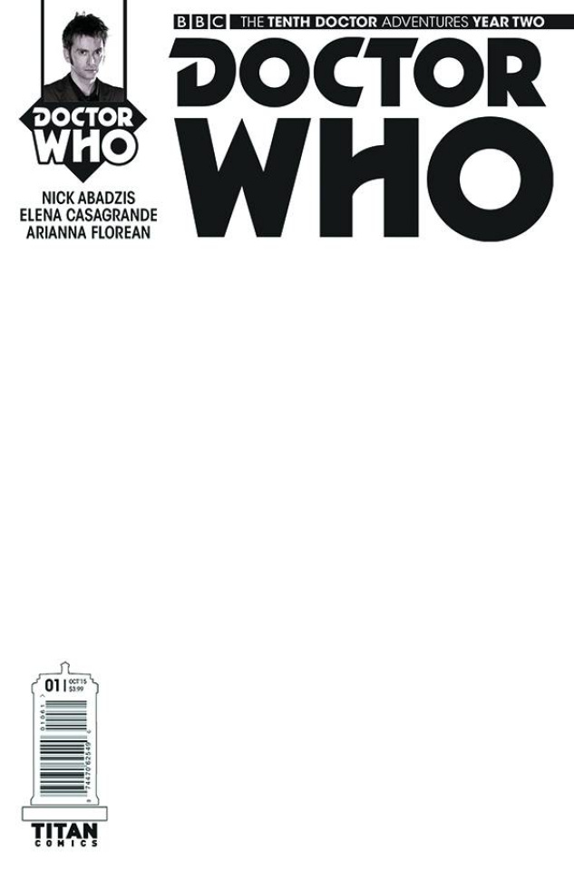 Doctor Who: New Adventures with the Tenth Doctor, Year Two #1 (Blank Sketch Cover)