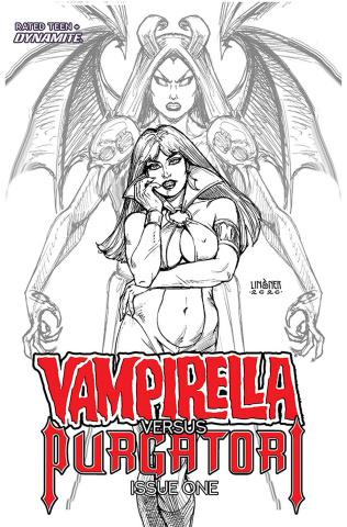 Vampirella vs. Purgatori #1 (10 Copy Linsner B&W Cover)