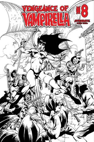 Vengeance of Vampirella #8 (Castro B&W Cover)