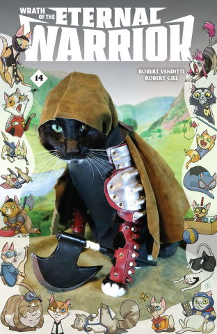 Wrath of the Eternal Warrior #14 (Cat Cosplay Cover)