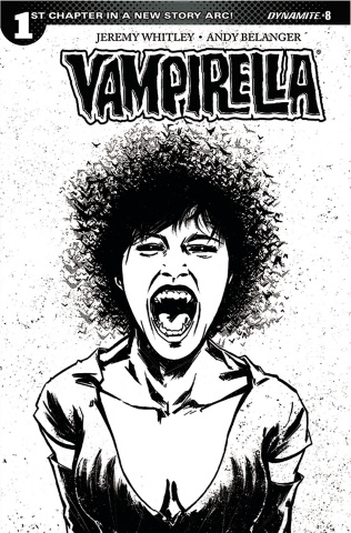 Vampirella #8 (20 Copy Tan B&W Cover)