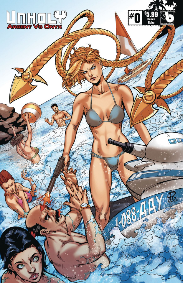 UnHoly: Argent vs. Onyx #0 (Beach Babe Cover)