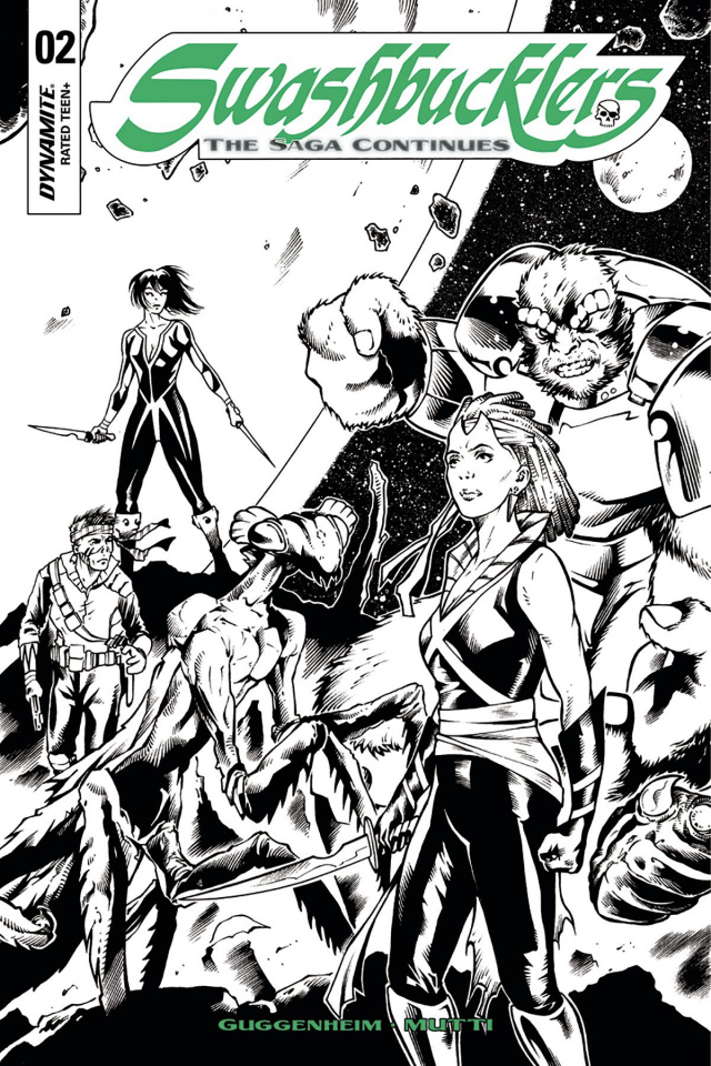 Swashbucklers: The Saga Continues #2 (20 Copy Mutti B&W Cover)