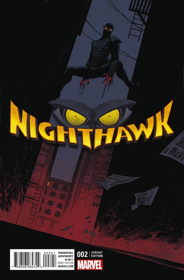 Nighthawk #2 (Shalvey Cover)