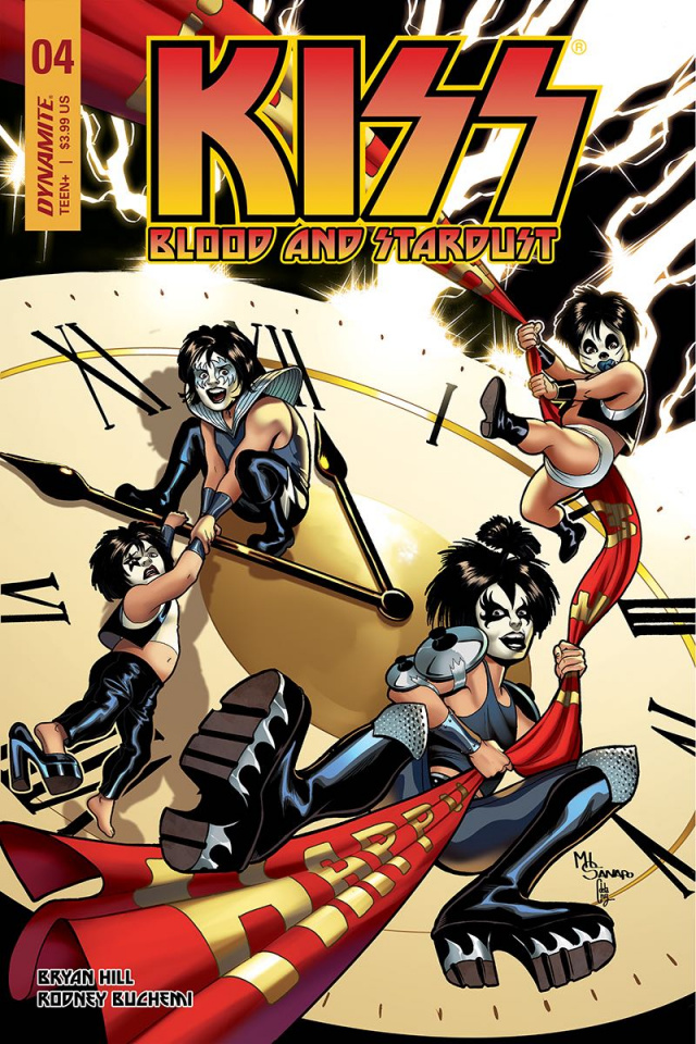 KISS: Blood and Stardust #4 (Sanapo Cover)