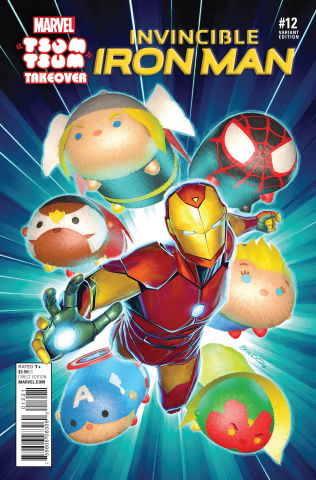 Invincible Iron Man #12 (Peterson Tsum Tsum Cover)