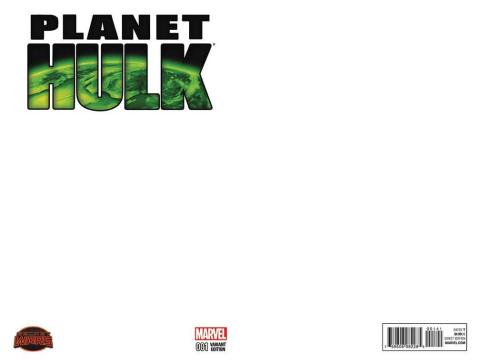 Planet Hulk #1 (Blank Cover)