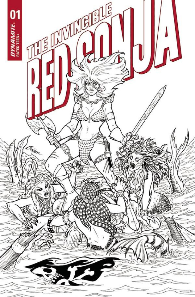 The Invincible Red Sonja #1 (15 Copy Conner Line Art Cover)