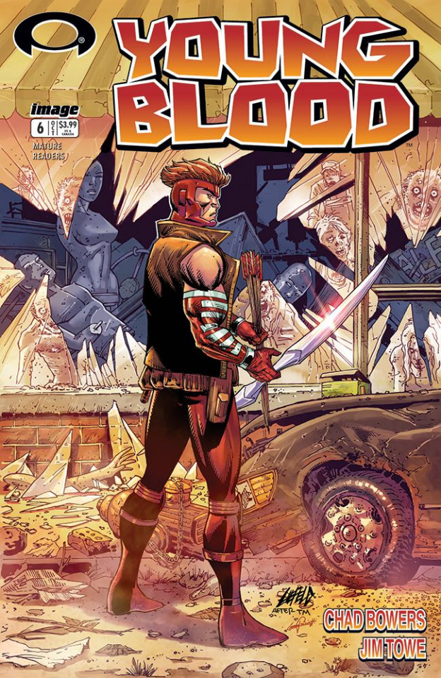 Youngblood #6 (Walking Dead #1 Tribute Cover)