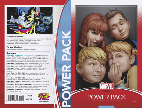 Power Pack #63 (Christopher Trading Card Cover)