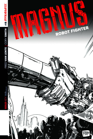 Magnus, Robot Fighter #8 (10 Copy Hardman B&W Cover)