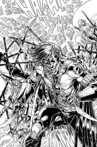 Teen Titans #16 (Black & White Cover)