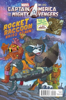 Captain America and the Mighty Avengers #1 (Rocket Racoon Cover)