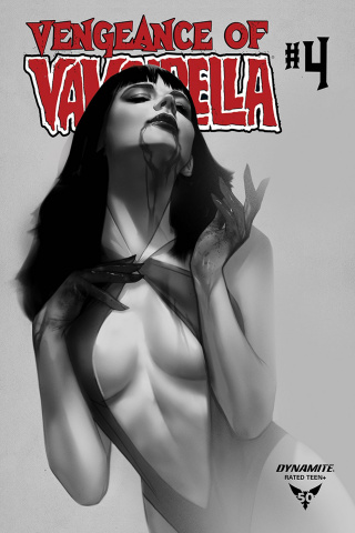 Vengeance of Vampirella #4 (30 Copy Oliver B&W Cover)