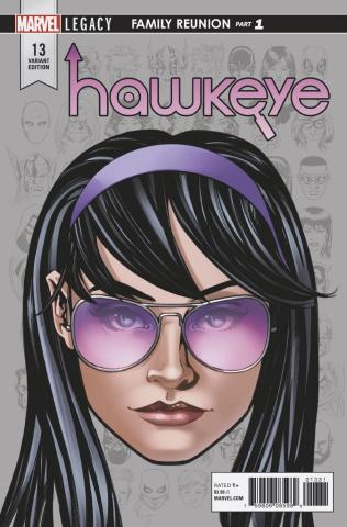 Hawkeye #13 (McKone Legacy Headshot Cover)