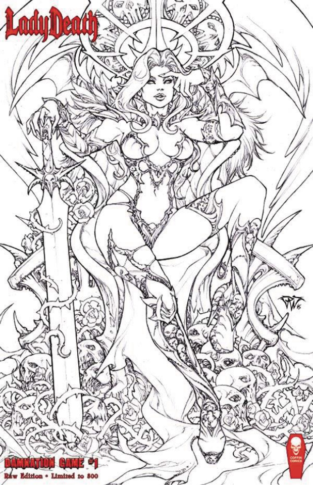 Lady Death: Damnation Game (Raw Edition Signed & Numbered)