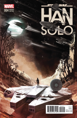 Star Wars: Han Solo #4 (Millennium Falcon Cover)