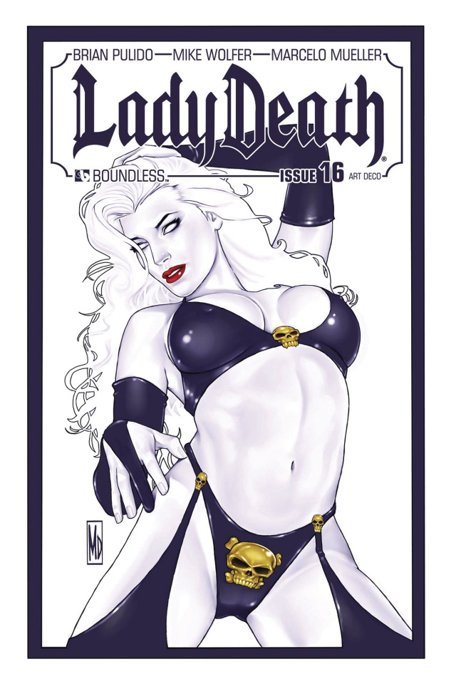 Lady Death #16 (Art Deco Variant Cover)