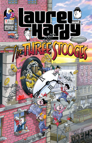 Laurel and Hardy Meet The Three Stooges #1 (Pacheco Laugh Cover)
