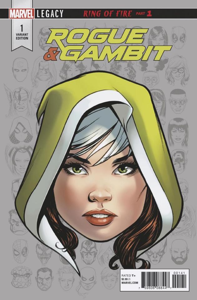 Rogue & Gambit #1 (McKone Legacy Headshot Cover)