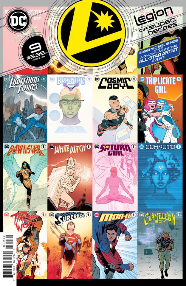 The Legion of Super Heroes #9 (Ryan Sook Cover)