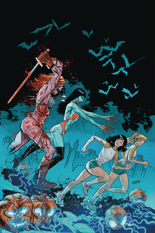 Red Sonja and Vampirella Meet Betty and Veronica #10 (Gedeon Virgin Zombie Cover)