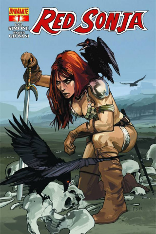 Red Sonja #1 (Staples Cover)